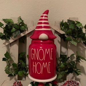 Rae Dunn gnome home canister